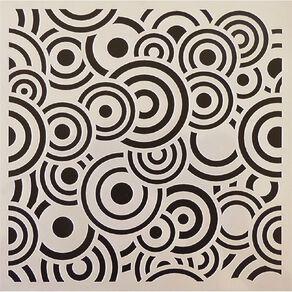 Fivestar Stencil Circles 15cm x 15cm