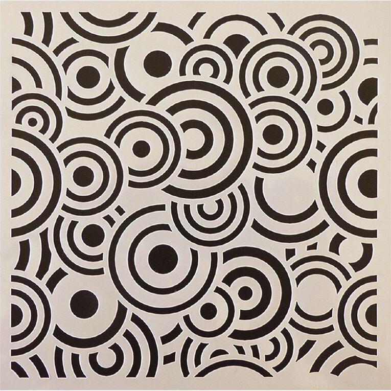 Fivestar Stencil Circles 15cm x 15cm, , hi-res