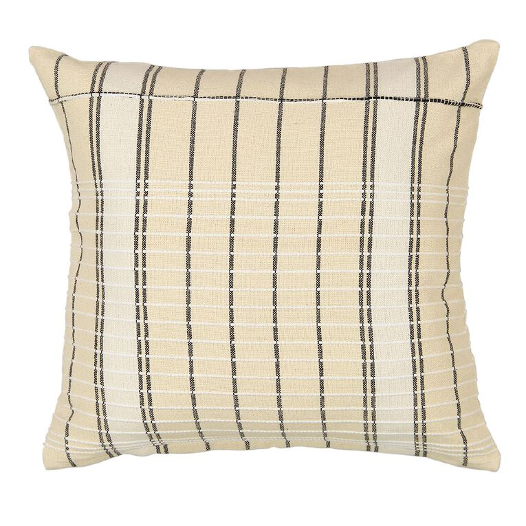 Living & Co Jacquard Cushion Ivory 45cm x 45cm, Ivory, hi-res