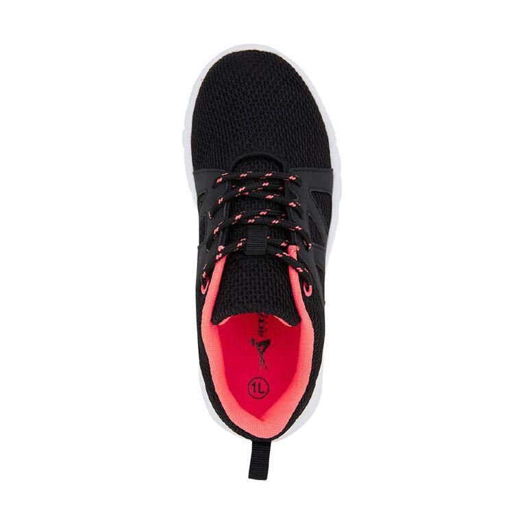 Active Intent Kids' Zigzag Panel Shoes, Black, hi-res