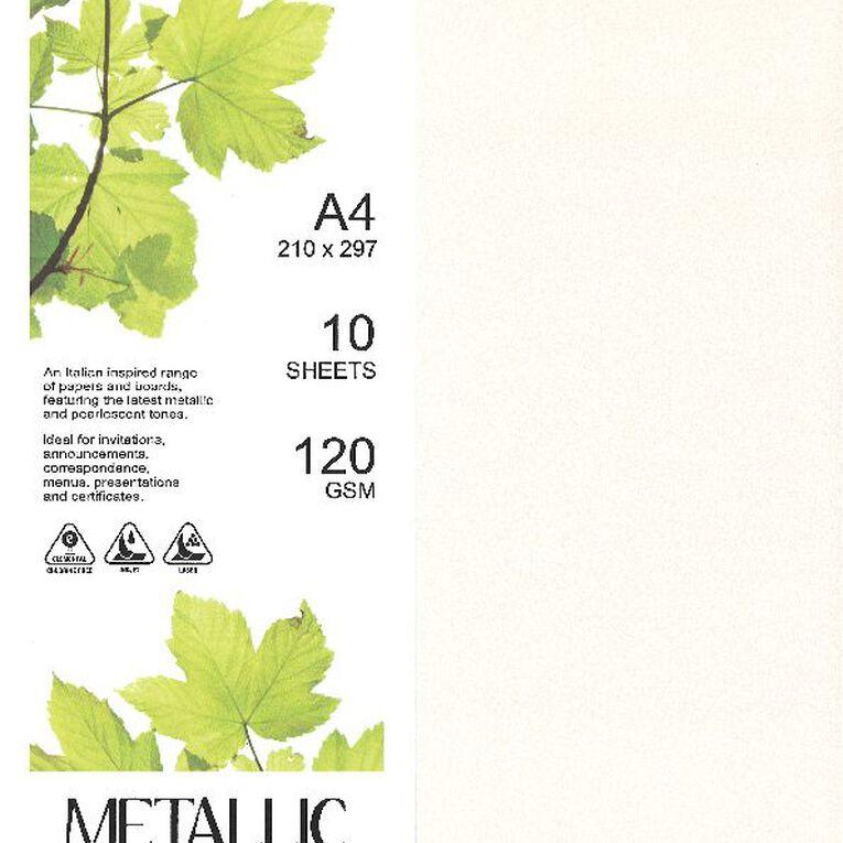 Direct Paper Metallic Paper 120gsm 10 Pack Quartz A4, , hi-res