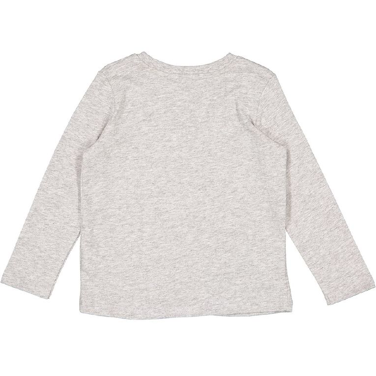 Young Original Toddler Long Sleeve Applique Tee, Grey Mid, hi-res