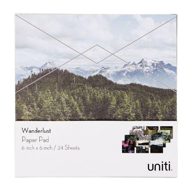 Uniti Wanderlust Paper Pad 24 Sheets 6in x 6in, , hi-res