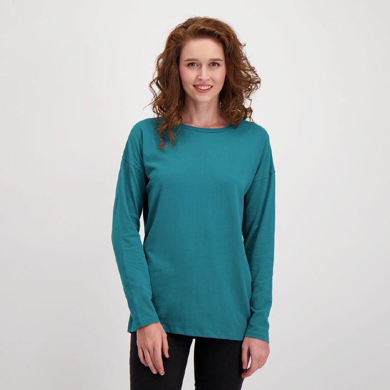 H&H Women's Long Sleeve, Green Dark, hi-res