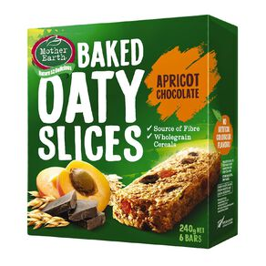 Mother Earth Baked Oaty Slice Apricot Choc 240g