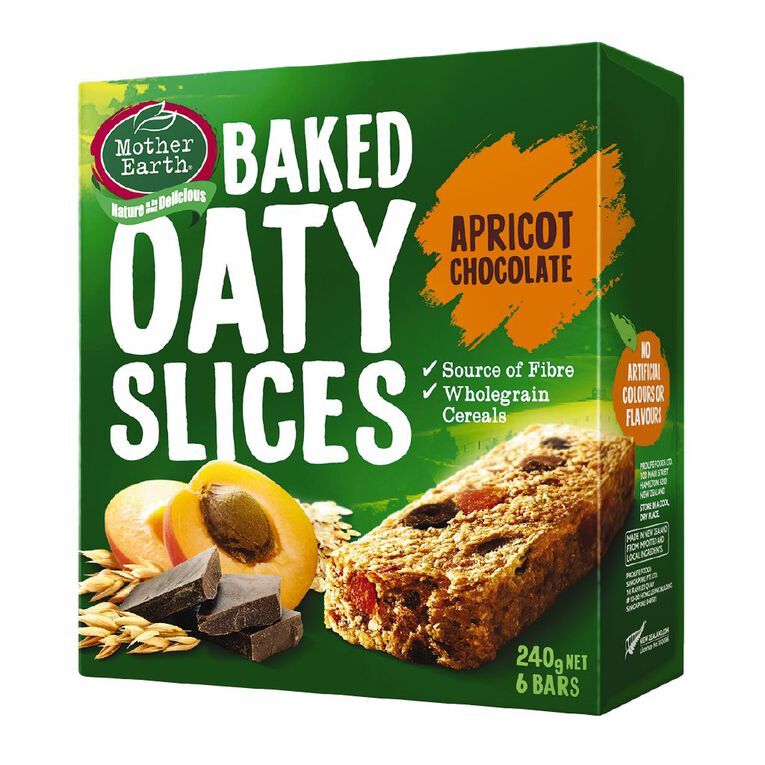 Mother Earth Baked Oaty Slice Apricot Choc 240g, , hi-res