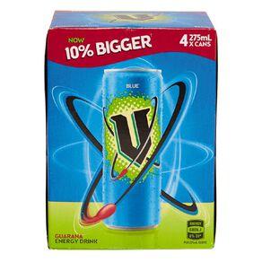 V Energy Drink Blue 275ml 4 Pack