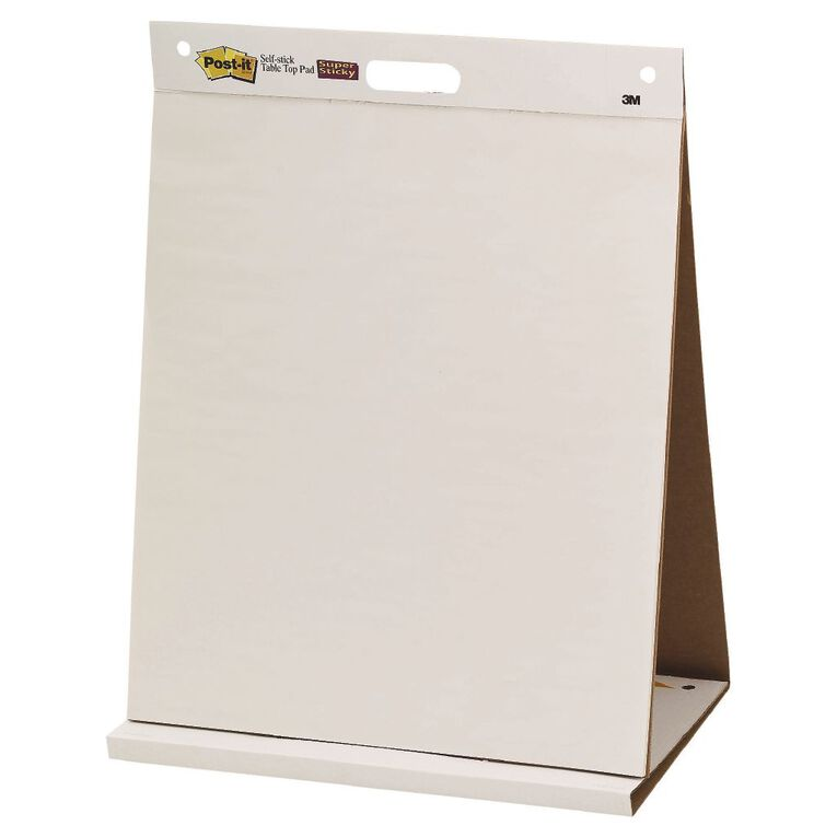 Post-It Tabletop Easel Pad 563R 508x584mm White, , hi-res