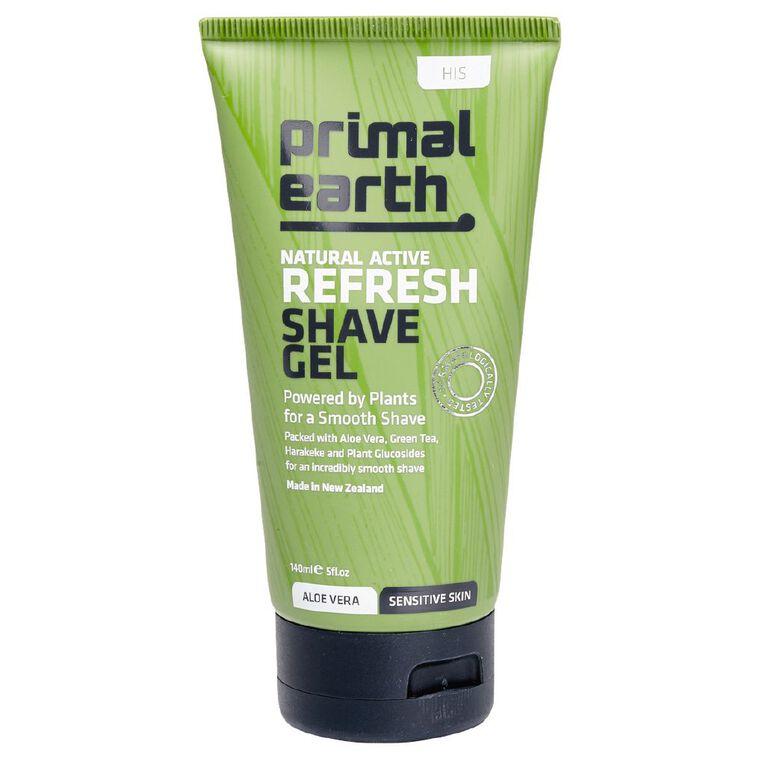 Primal Earth Refresh Shave Gel 140ml, , hi-res