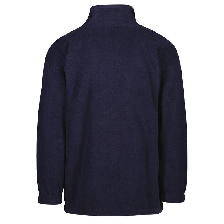 Schooltex Churton School Zip-Thru Polar Fleece Top with Embroidery, Navy, hi-res