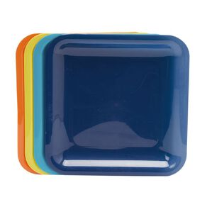 Living & Co Essentials Picnic Plate Multi-Coloured 4 Pack