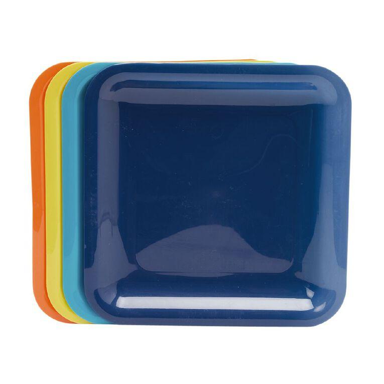 Living & Co Essentials Picnic Plate Multi-Coloured 4 Pack, , hi-res