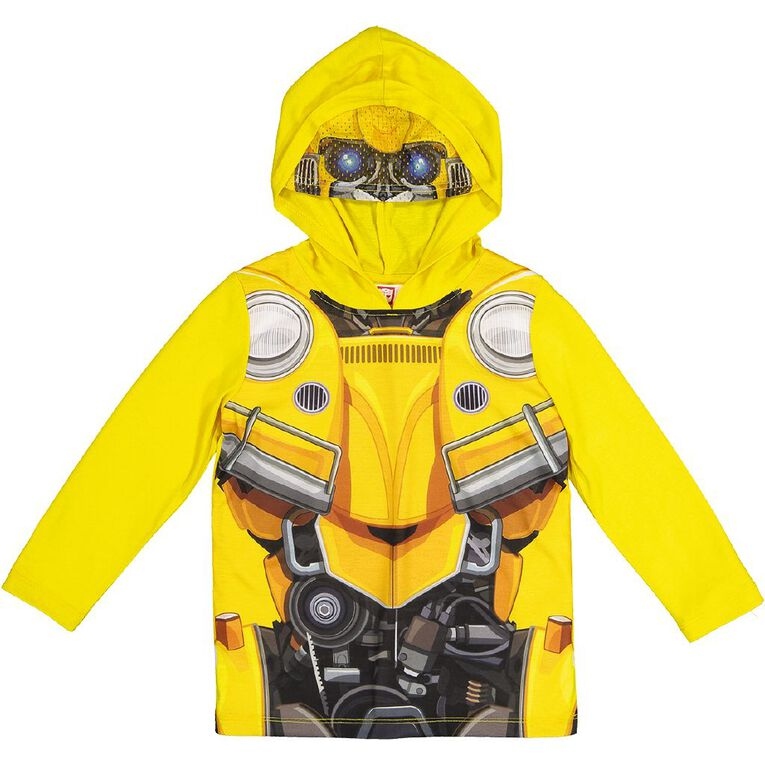 Transformers Long Sleeve Novelty Mask Tee, Yellow, hi-res image number null