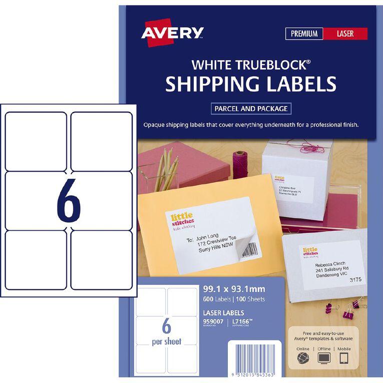 Avery Laser Labels L7166-100 Pack 100 6/Page, , hi-res