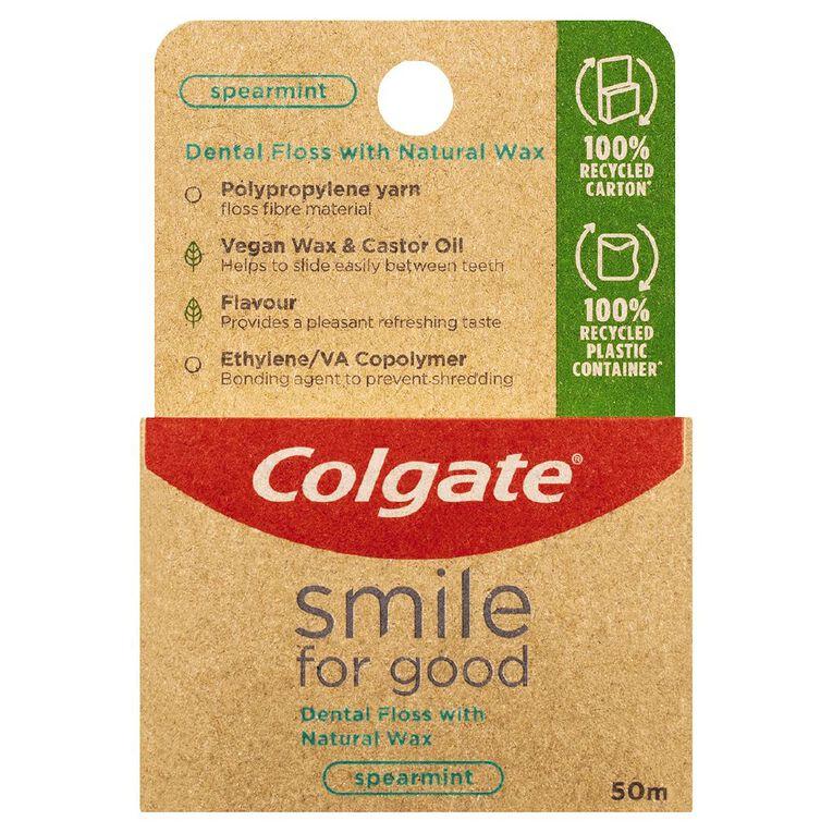 Colgate Smile for Good Dental Floss Spearmint 50m, , hi-res