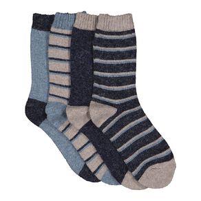 H&H Boys' Home Socks 4 Pack
