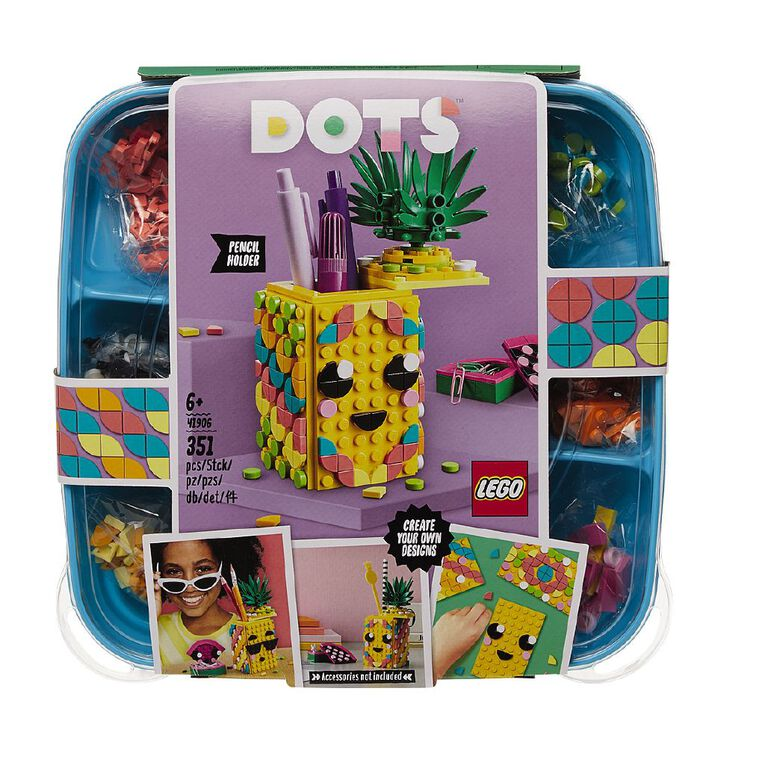 LEGO DOTS Pineapple Pencil Holder 41906, , hi-res