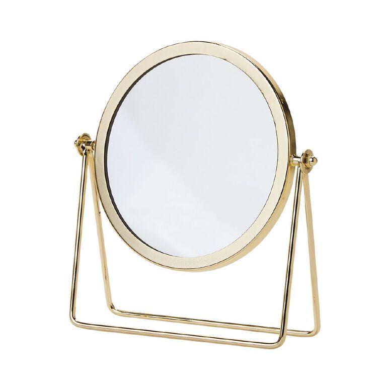 Living & Co Round Vanity Mirror Gold 22cm, , hi-res