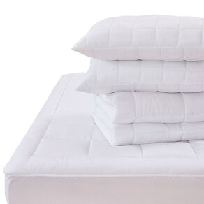Living & Co Essentials Bed Pack Optical White Queen