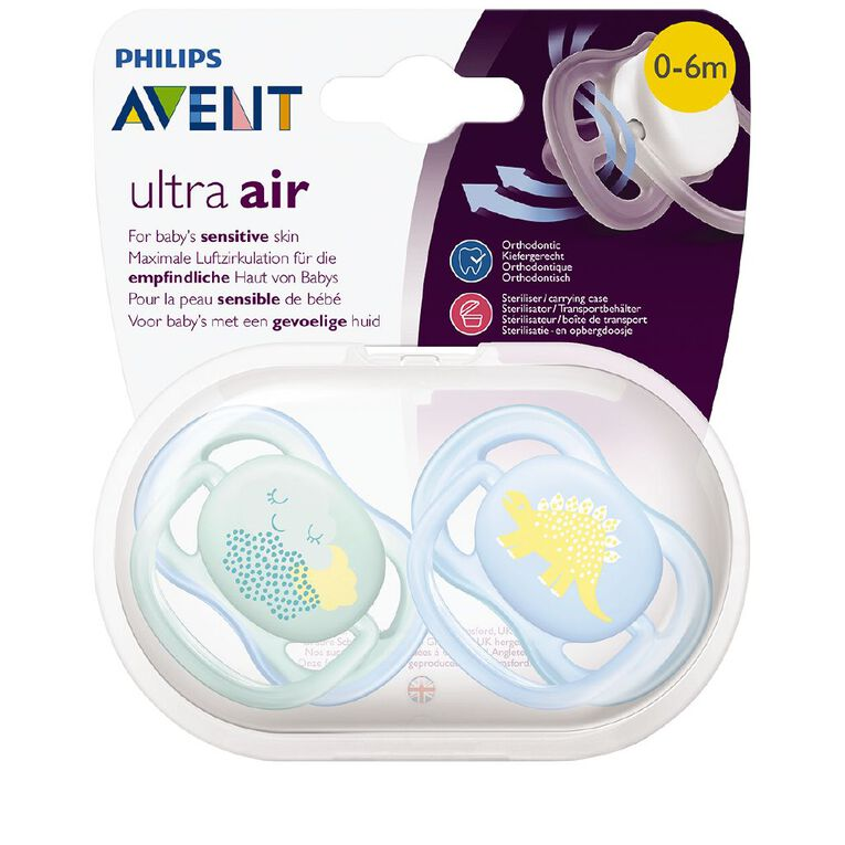 Avent Soother Ultra Air Design 0-6m (2PK) Assorted, , hi-res