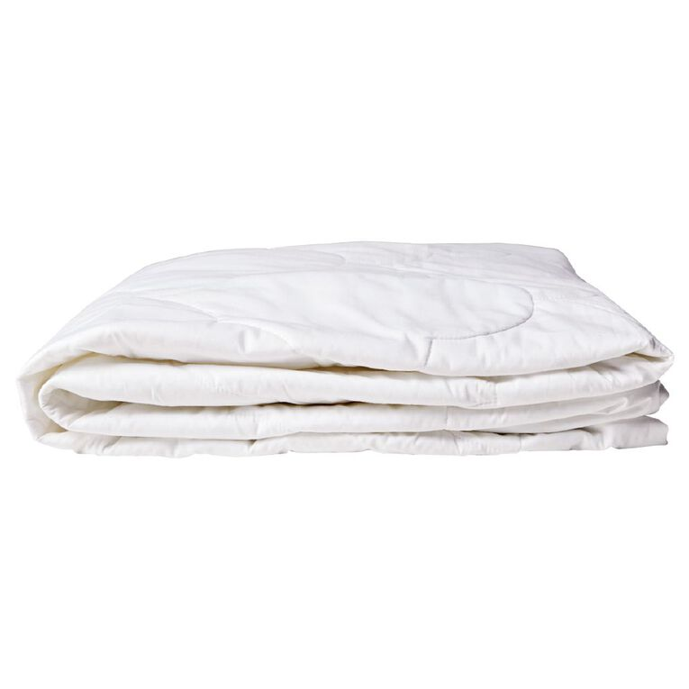Living & Co Mattress Protector Cotton White Single, White, hi-res