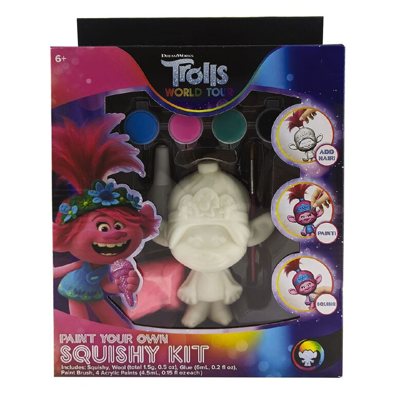 Trolls 2 Paint Your Own Squishy, , hi-res