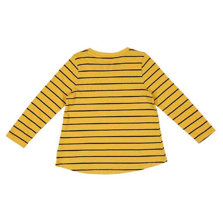 Young Original Toddler Long Sleeve Printed Tee, Yellow Dark, hi-res