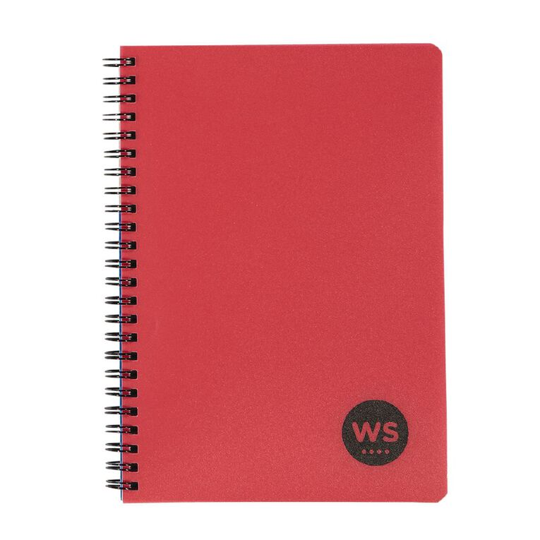 WS Notebook PP Wiro 200 Pages Soft Cover Red A5, , hi-res