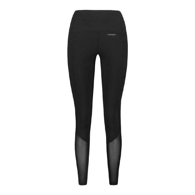 Active Intent Women's Pocket And Mesh Leggings, Black, hi-res