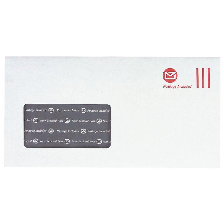 New Zealand Post DLE Envelope Prepaid Window 500 Pack, , hi-res