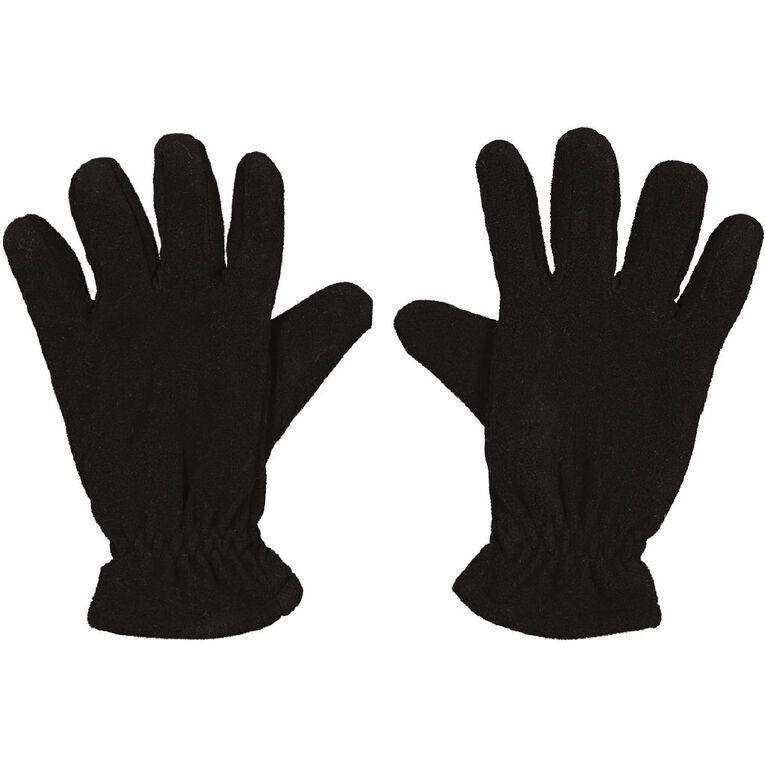 Back Country Men's FF Fleece Gloves, Black, hi-res