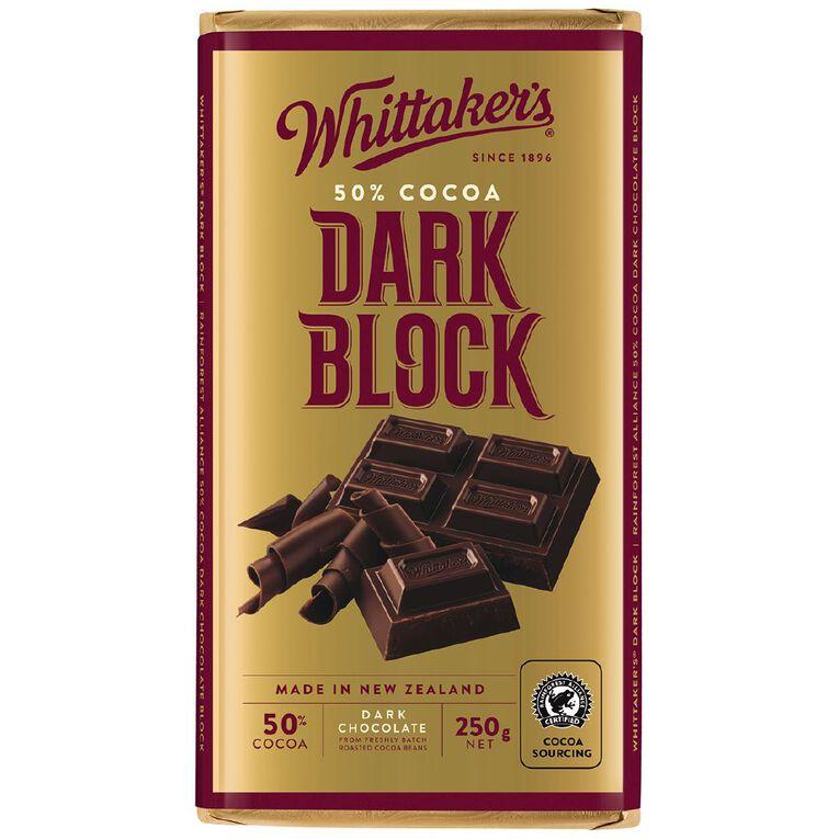 Whittaker's Classic Dark Block 250g, , hi-res