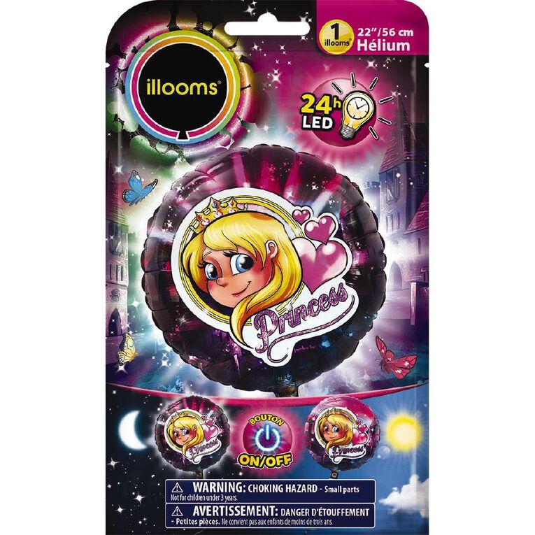 Illooms Light Up Foil Balloon Princess 56cm, , hi-res