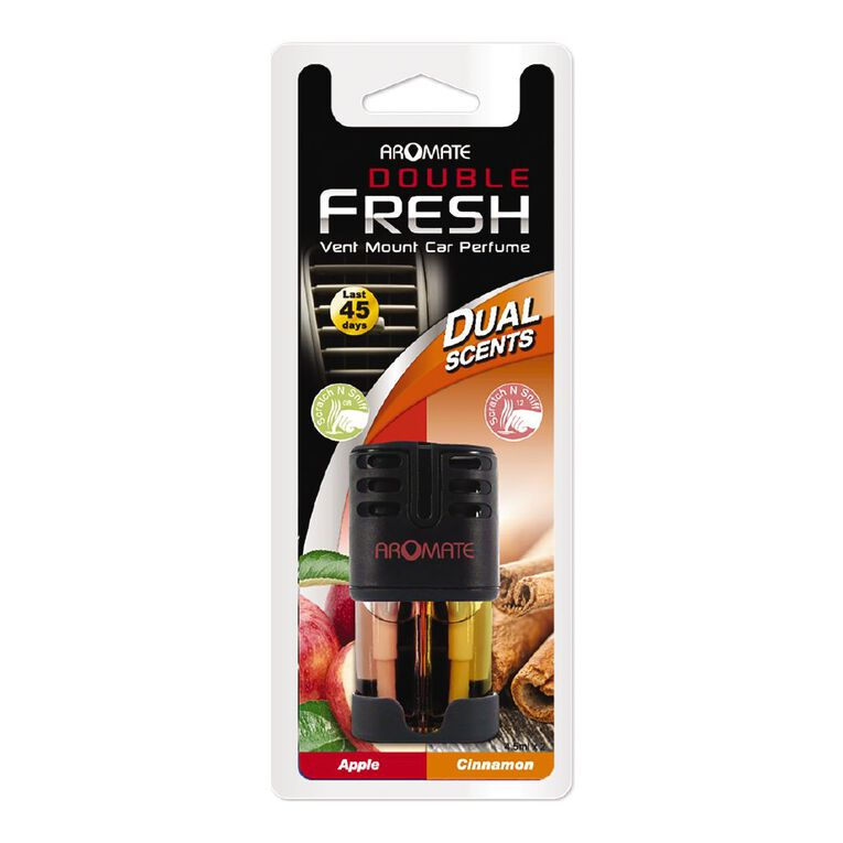 Aromate Air Double Fresh Vent Mount Car Air Freshener Apple and Cinamon, , hi-res