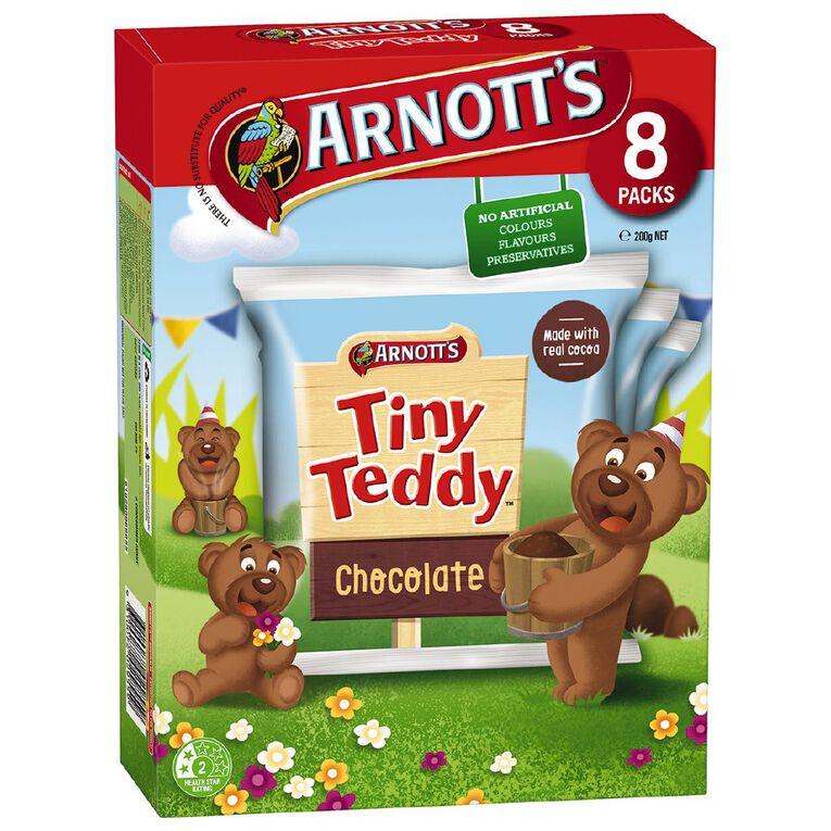 Arnott's Tiny Teddy Choc MP 8 Pack 200g, , hi-res