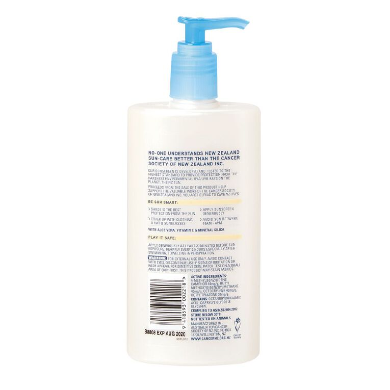 Cancer Society Sunscreen Kids Pure Lotion SPF50+ 400ml, , hi-res