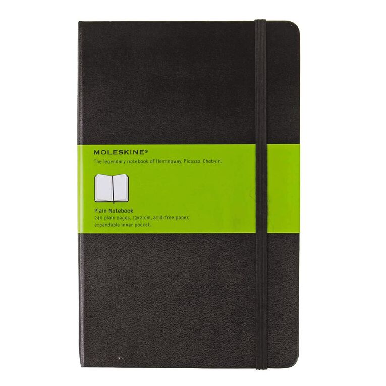 Moleskine Classic Hard Cover Large Notebook Unlined Black, , hi-res