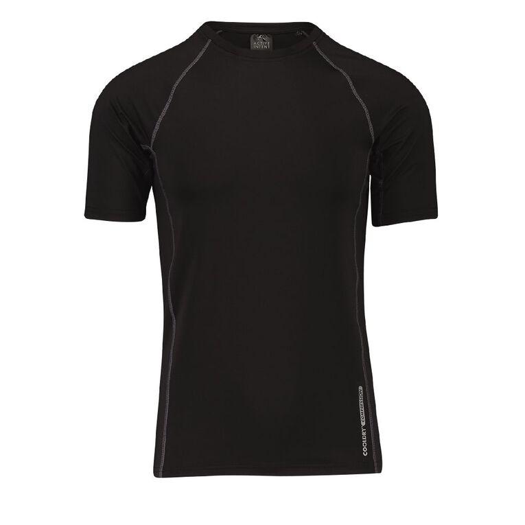 Active Intent Men's Short Sleeve Compression Tee, Black, hi-res image number null