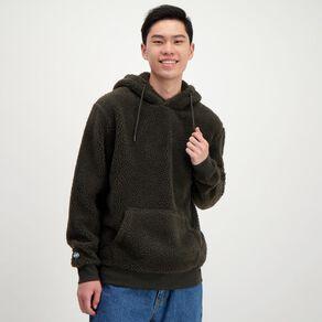 Garage Men's Sherpa Lined Hooded Sweatshirt