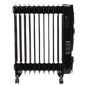 Kensington Oil Heater 11 Fin 2400w With Timer & Fan Black