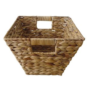 Living & Co Water Hyacinth Square Basket Natural Small
