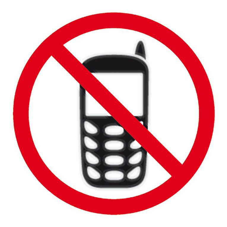 APLI Self Adhesive No Mobile Phone Black, , hi-res