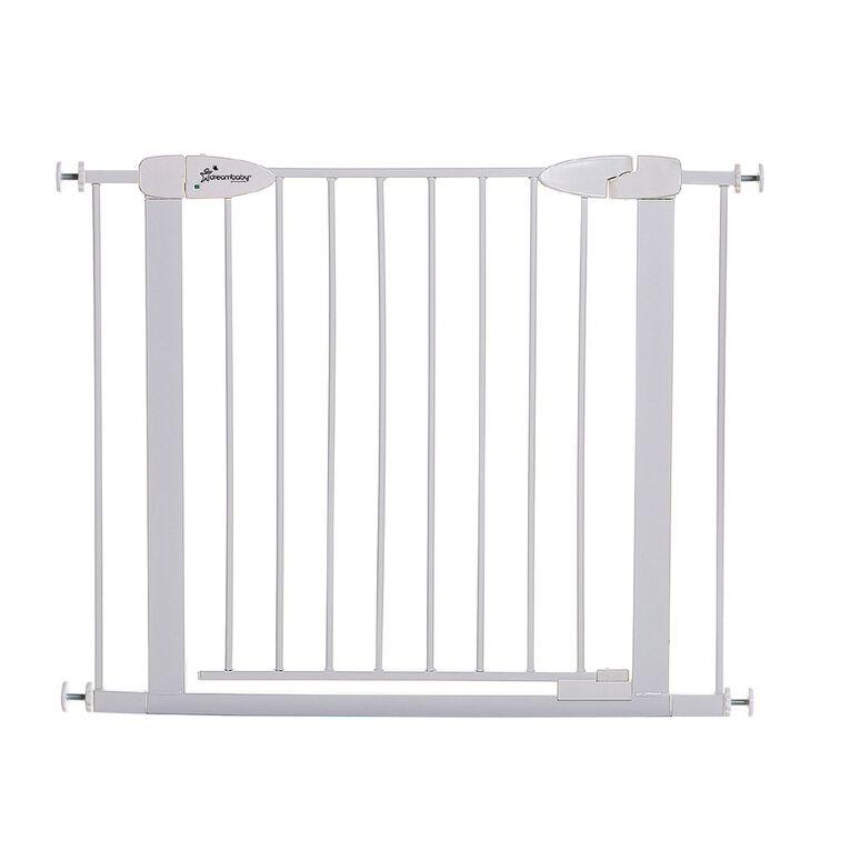 Dreambaby Boston Auto-Close Gate with 2x7cm Extensions White, , hi-res