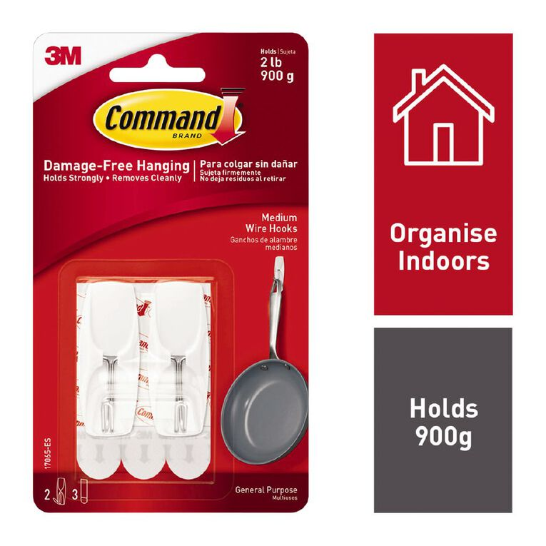 Command Wire Toggle Hooks 2 Pack Medium, , hi-res