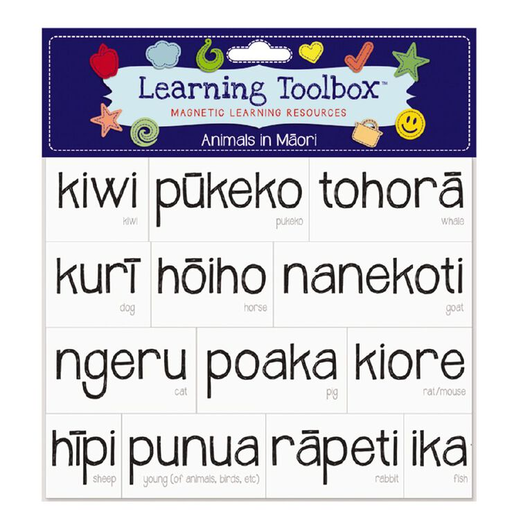 Learning Tool Box Magnetic NZ Maori Animals Assorted, , hi-res