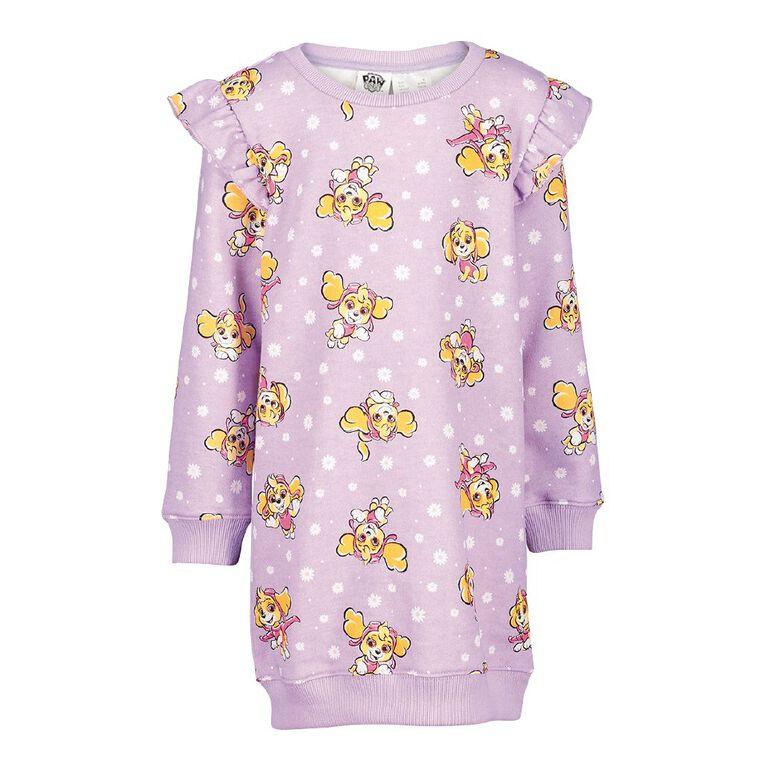 Paw Patrol AOP Flutter Dress, Purple Light, hi-res