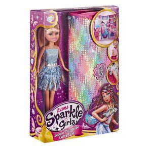 Zuru Sparkle Girlz Fashion Doll with Sequin Carry Case Assorted