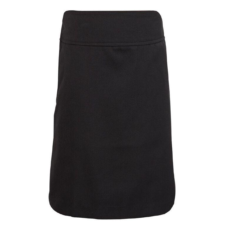 Schooltex A-Line School Back Split Skirt, Black Kids, hi-res