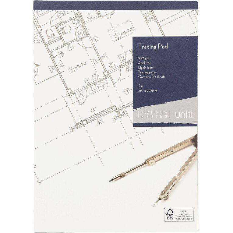 Uniti Platinum Tracing Pad A4 20 sheets, , hi-res
