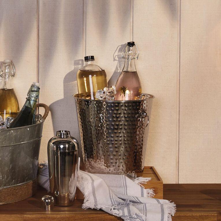 Living & Co Artisan Hammered Wine Cooler Silver 25cm x 25cm, , hi-res